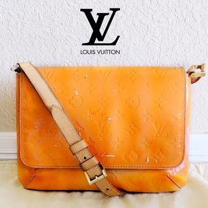 🆙 Louis Vuitton Monogram Orange Vernis Bag